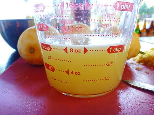 Squeeze enough juice to measure 1 full cup