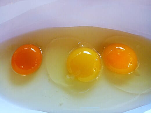 Can you guess the homegrown egg?