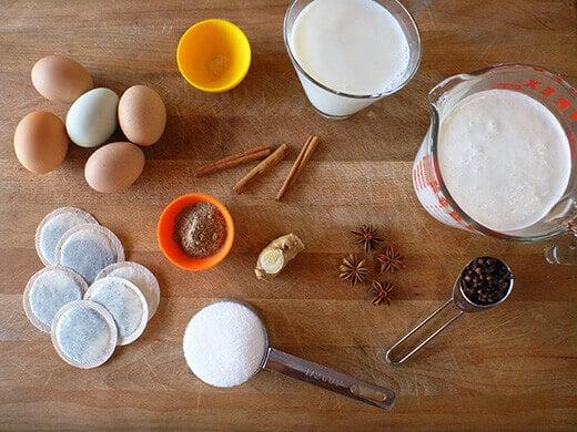 Chai tea ice cream ingredients
