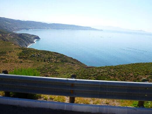 Salsipuedes coastline in Northern Baja