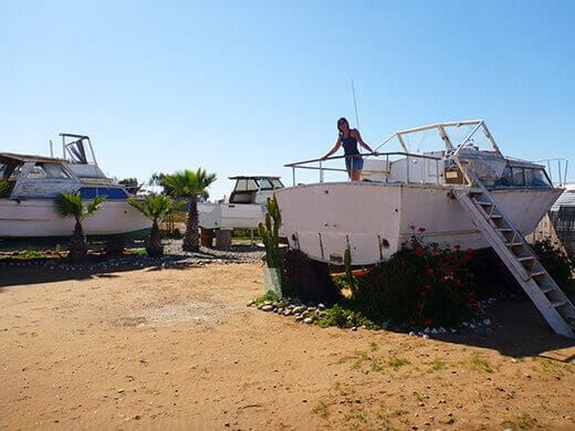 Old boats turned surf retreats