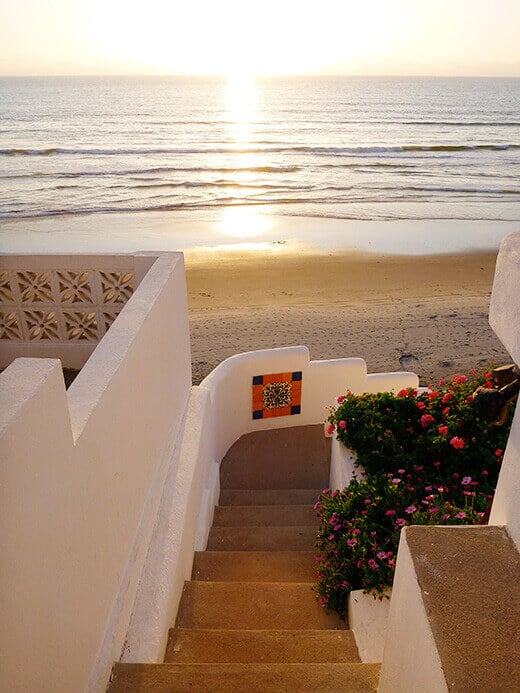 Stairs leading down to the beach