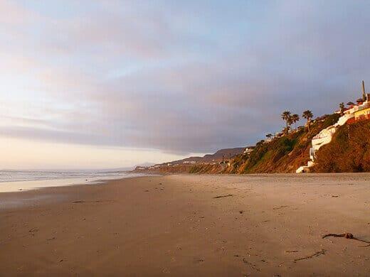 Our barefoot wedding beach