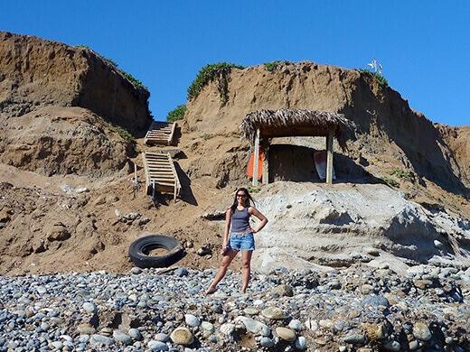 Cobblestone beach