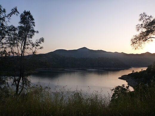 Pine Flat Lake at sunset