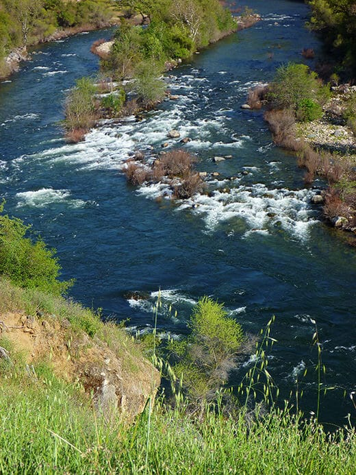 Scouting rapids on the Kings River