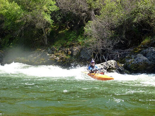 Charging through the rapids on Kings River