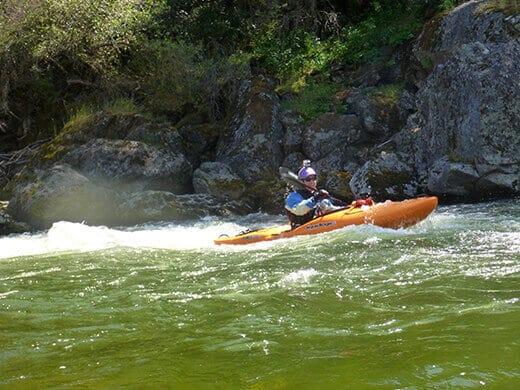 Whitewater kayaking on the Kings River