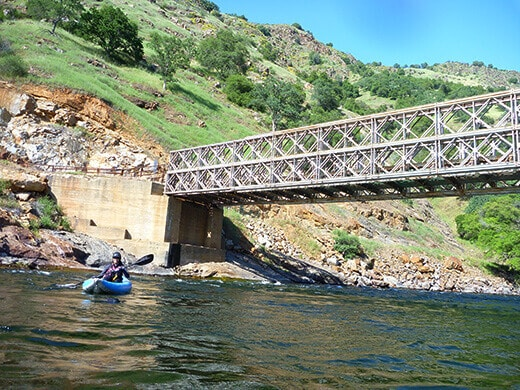 Kayaking past Rodgers Crossing