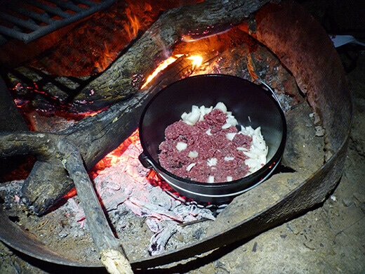 Cooking with the Dutch oven
