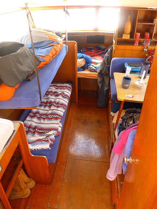 Waking up in a converted cabin cruiser