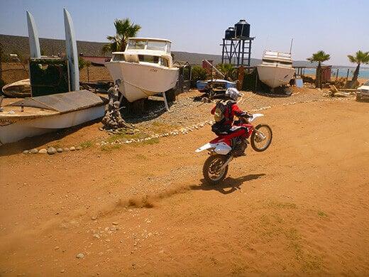 Dirt biking in Baja