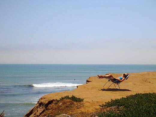 Relaxing cliffside