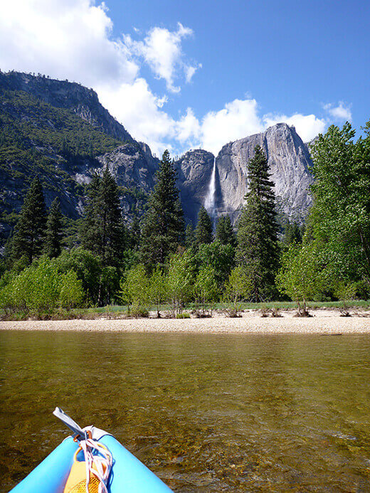 Floating through Yosemite Valley on the Merced