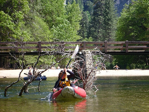 Paddling on the Merced River