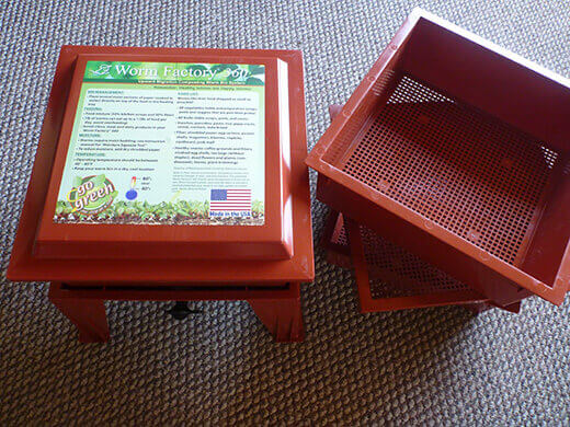 Worm Factory 360 stacking trays, base and lid