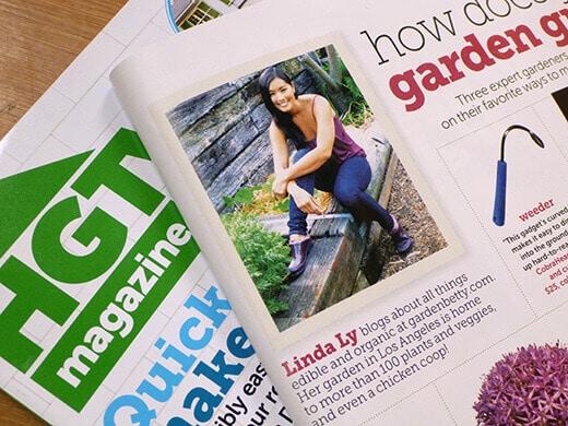 Garden Betty in HGTV magazine