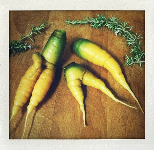 My carrots wear the pants in the garden