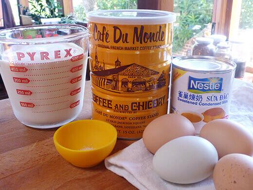 Vietnamese coffee ice cream ingredients