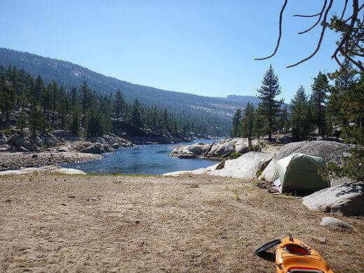 Campsite at Florence Lake