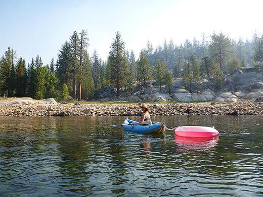 Kayaking up the river