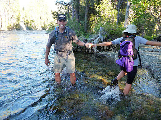 Fording the South Fork San Joaquin River