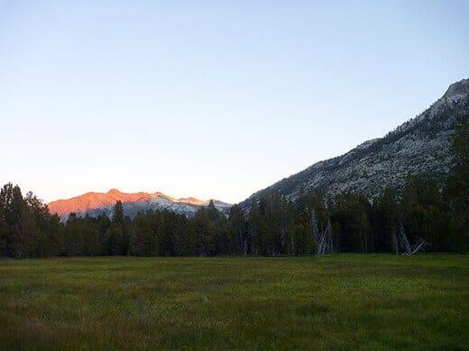 Last light on the mountain