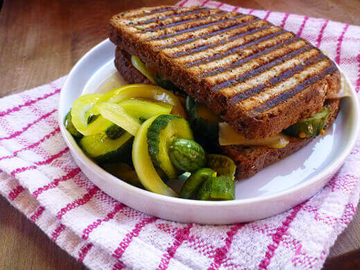 Bread and butter pickle sandwich