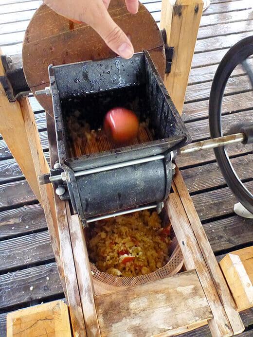 Sending apples through the grinder