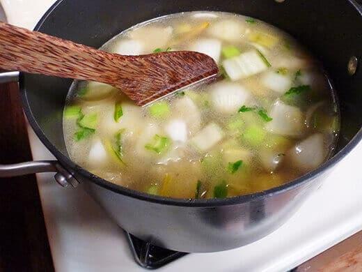 Add chicken broth