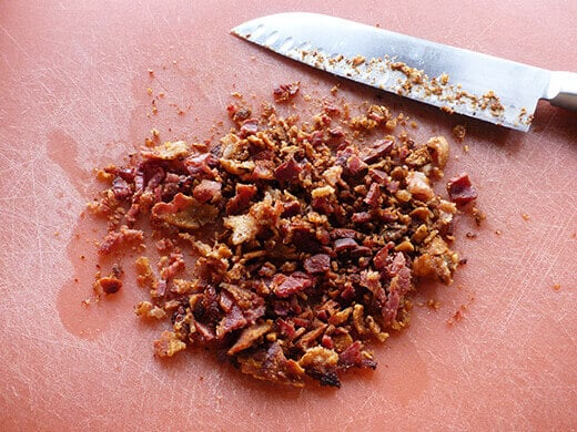 Bacon bits for soup