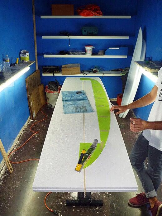 Every surfboard starts out as a foam blank
