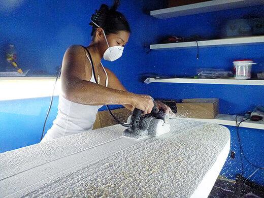 Shaving the skin off the foam