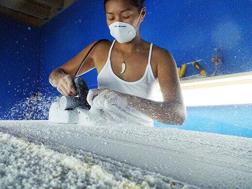 Planing the foam