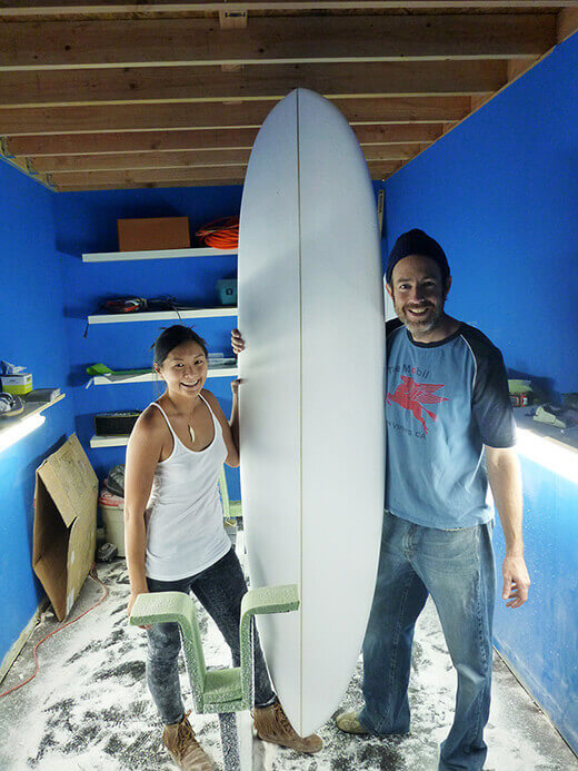 The (almost) finished surfboard