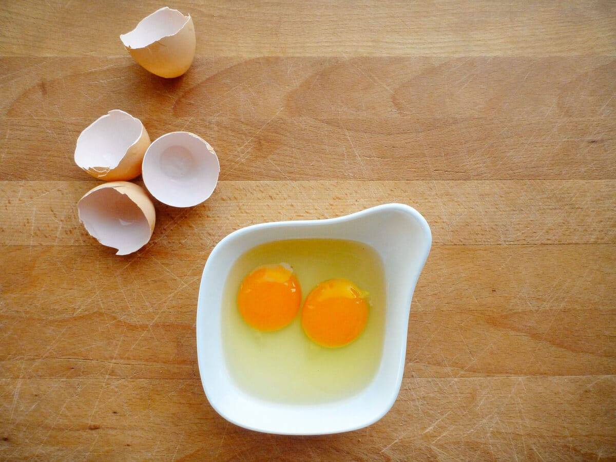 Orange yolks from backyard chickens