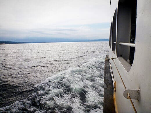 Taking the ferry from Tsawwassen to Nanaimo