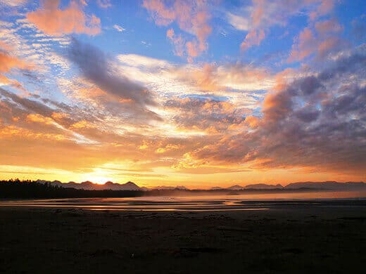 Sunrise over Clayoquot Sound Biosphere Reserve