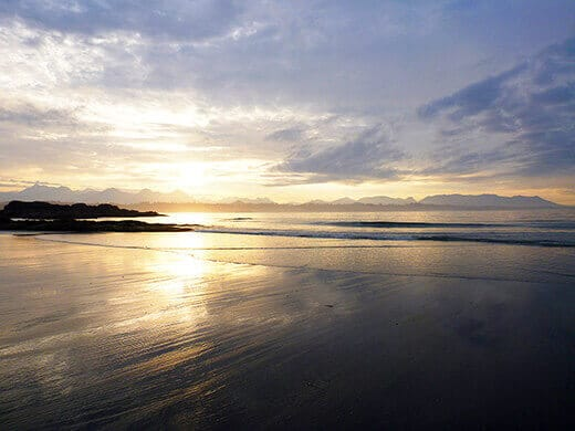 Sunrise in the Pacific Rim National Park Preserve