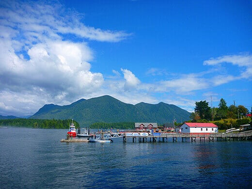 The village of Tofino on Vancouver Island.