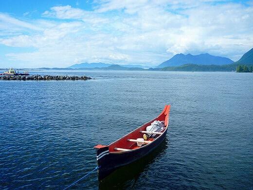 Canoe on Vancouver Island.