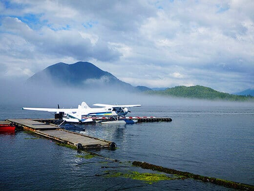 Floatplane in Tofino.