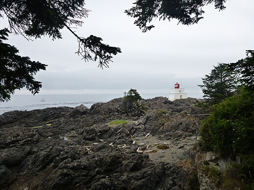 Amphitrite Lighthouse in Ucluelet.