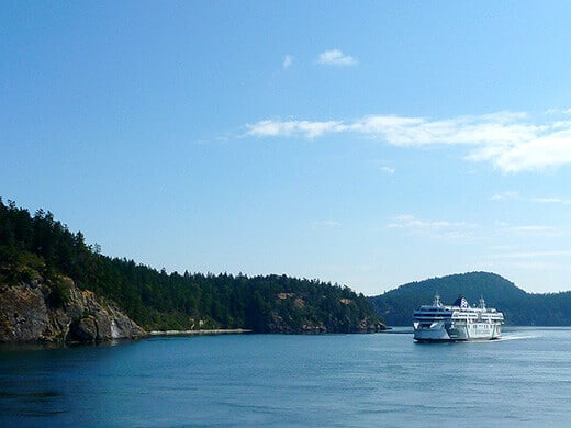 Ferry from Vancouver Island to the mainland.
