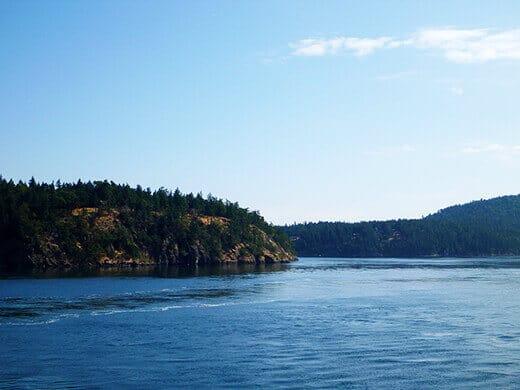 Islands along Haro Strait.