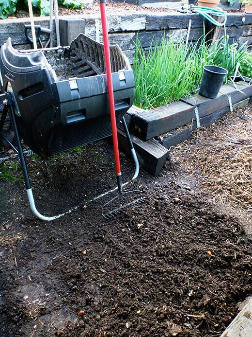 Unsifted compost