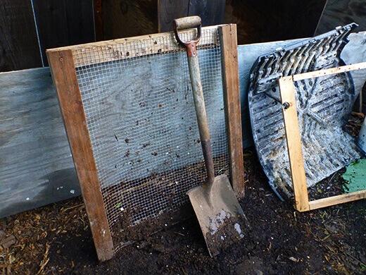 DIY compost sifting screen