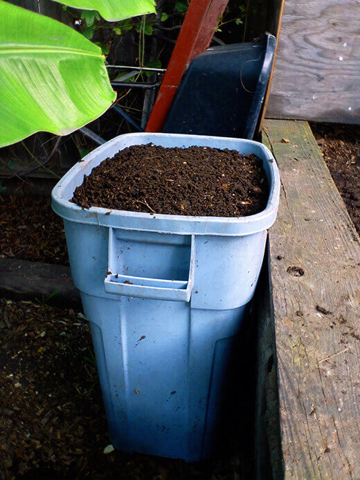Finished and sifted compost