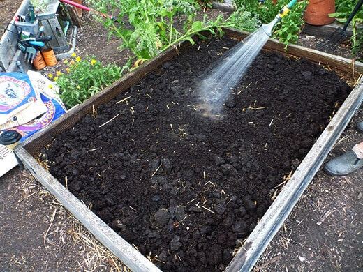 Garden bed amended with Malibu Compost