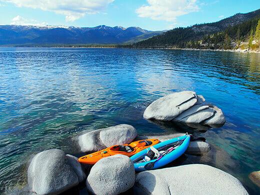 Kayaking at Sand Harbor, Lake Tahoe
